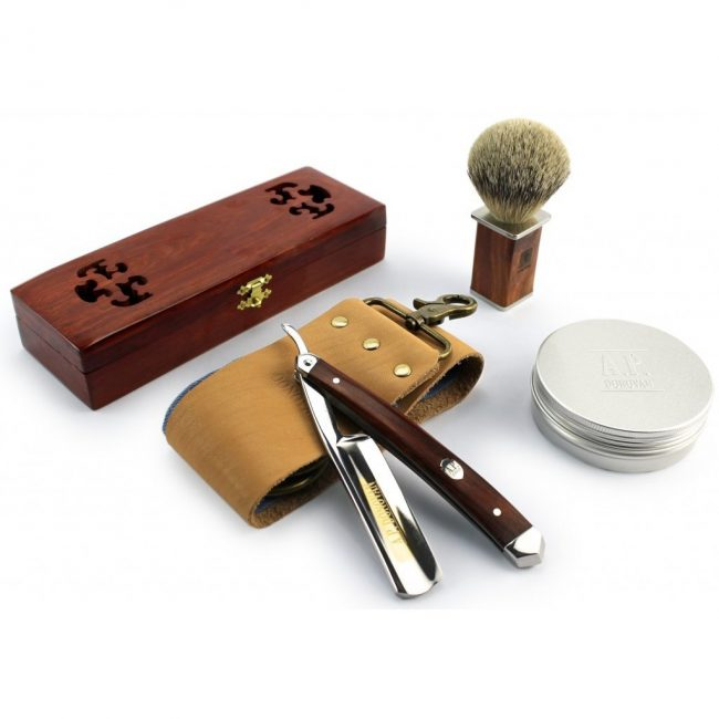 "best straight razor - A.P. Donovan - Excellent straight razor 7/8 "" cut throat Razor Set"
