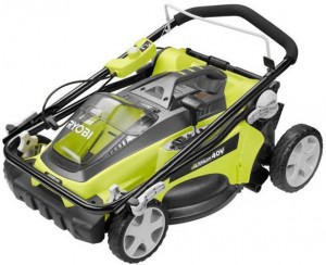 Best Electric Lawn Mower - Ryobi-40V-Lawn-Mower-Folded-for-Storage