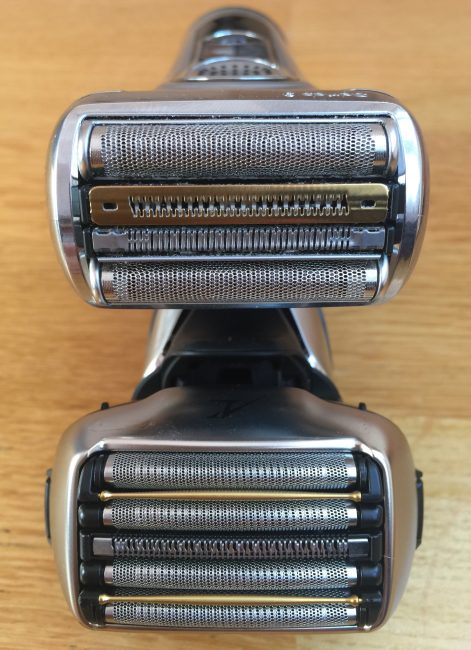 Panasonic Arc5 vs braun series 9 shaver head