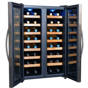 Best Wine Refrigerator - NewAir AW-321ED 32 Bottle Dual Zone Thermoelectric Wine Cooler