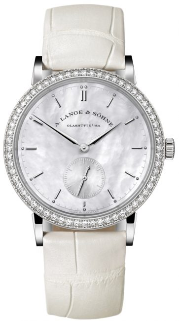 Luxury Watches For Women - Saxonia Mother-Of-Pearl and Diamond Watch