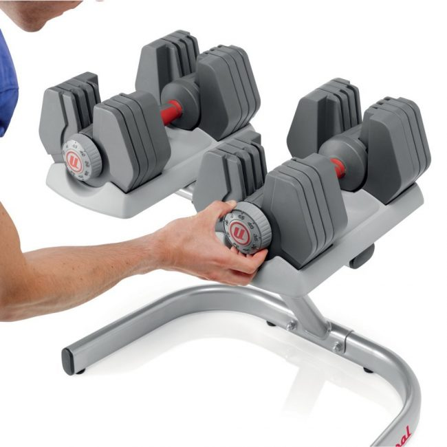 best adjustable dumbbells - Universal Power-Pak 445 Adjustable Dumbbells With Stand