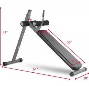Best Ab Machine - XMark 12 Position Adjustable Decline Ab Bench XM-4416