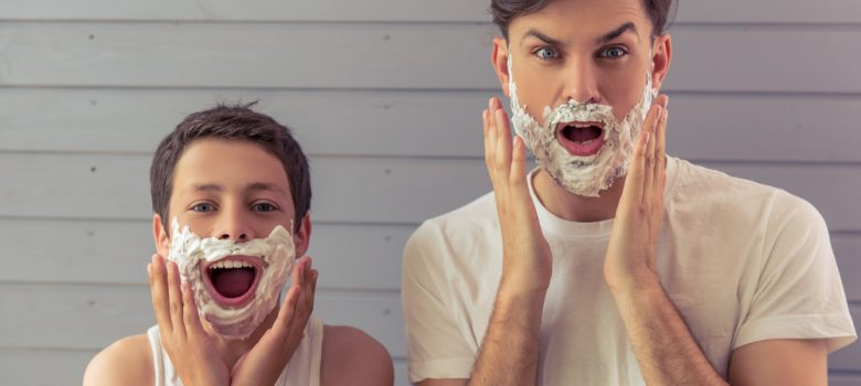 father-son-shaving