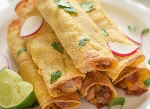 baked chicken bean and cheese taquitos