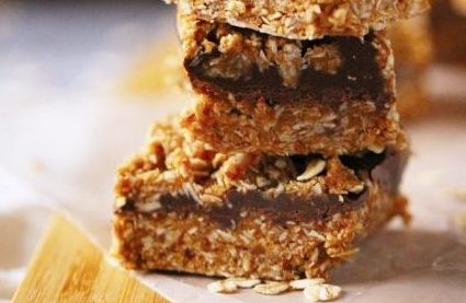 healthy no bake chocolate peanut butter oat bars