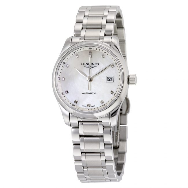 best luxury watches under - Longines Master Collection Automatic Mother of Pearl Dial Stainless Steel Ladies Watch