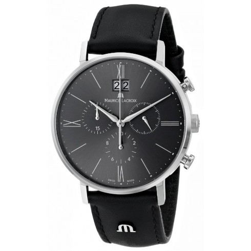 best luxury watches under - Maurice Lacroix Men's EL1088-SS001-810 Eliros Stainless Steel Watch With Black Leather Band