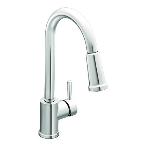 kitchen faucet reviews - moen 7175 level one handle high arc pullout kitchen faucet