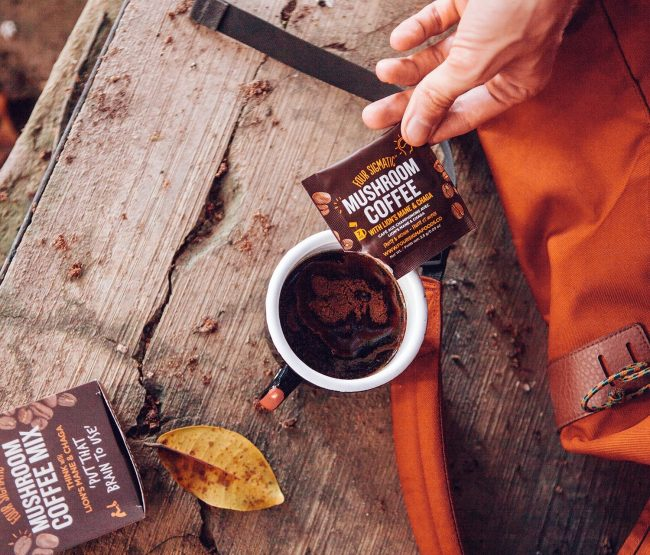 Fitness gifts - four sigmatic mushroom coffee with lions mane chaga