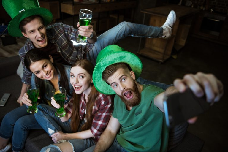 Saint Patrick's Day Celebrations - friends celebrating