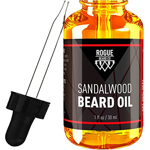 gifts for men with beards - BEARD OIL - SANDALWOOD by Rogue Beard Company