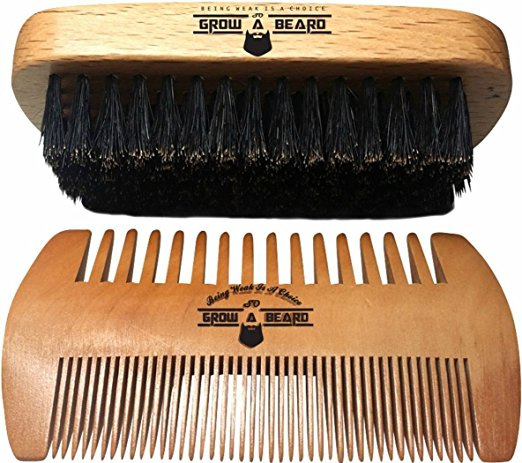 gifts for men with beards - Beard Brush and Comb Set for Men