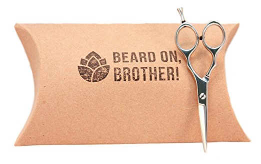 gifts for men with beards - Professional Stainless Steel 5.5inch Mens Mustache and Beard Grooming Scissors