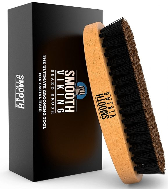 gifts for men with beards - Wild Boar Bristle Beard Brush