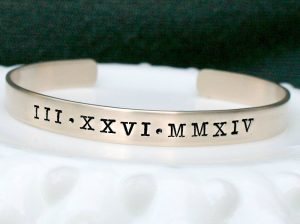 best college graduation gifts review - Roman Numeral Brass Or Silver Bracelet