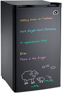 best college gifts review - Igloo FR326M-D-BLACK Erase Board Refrigerator