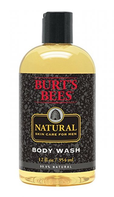 natural mens skin care - Burts Bees Natural Body Wash
