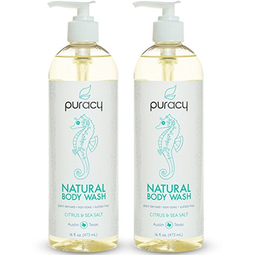 natural mens skin care - Puracy Natural Body Wash