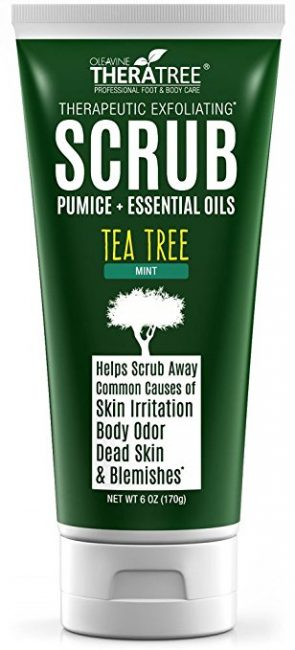 natural mens skin care - Thera Tree Tea Tree Oil Scrub