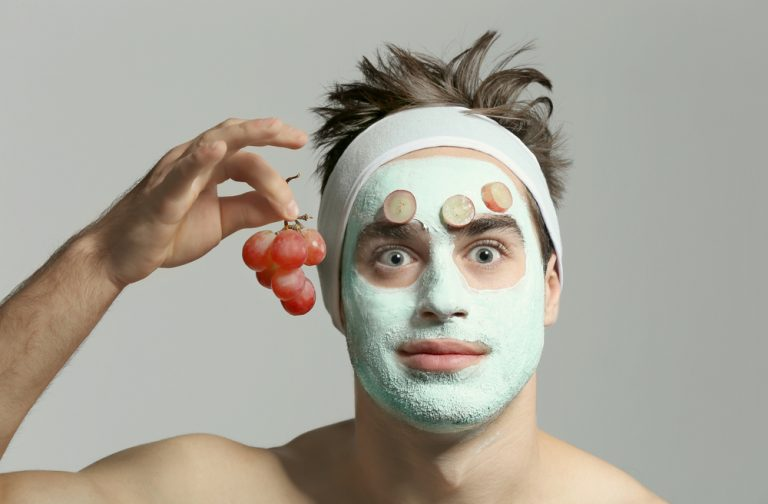 natural mens skin care - man facial mask