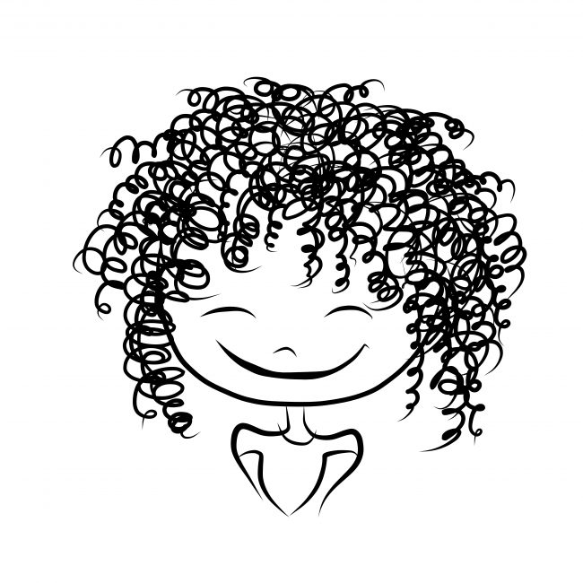 Best Hot Rollers Review - curly hair cartoon