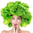 vegan foods for healthy hair - lettuce hair