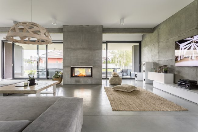 Home Remodelling - luxury and modern fireplace