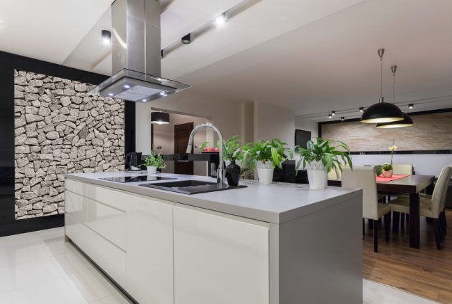 Home Remodelling - luxury and modern kitchen island