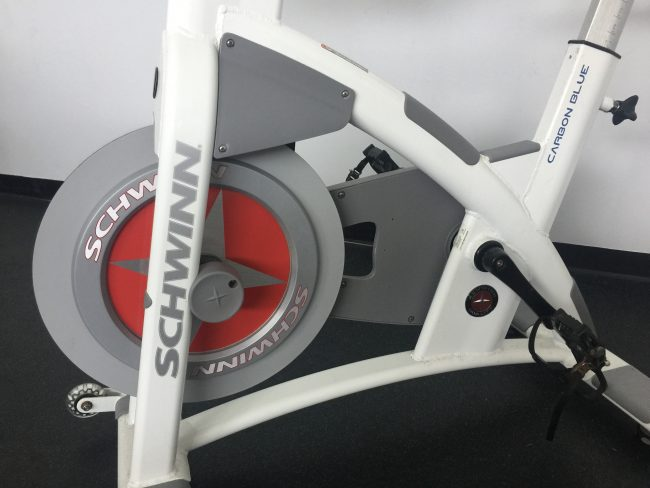Schwinn Fitness AC PERFORMANCE PLUS with CARBON BLUE Belt Drive - Indoor Cycling Bike - close up