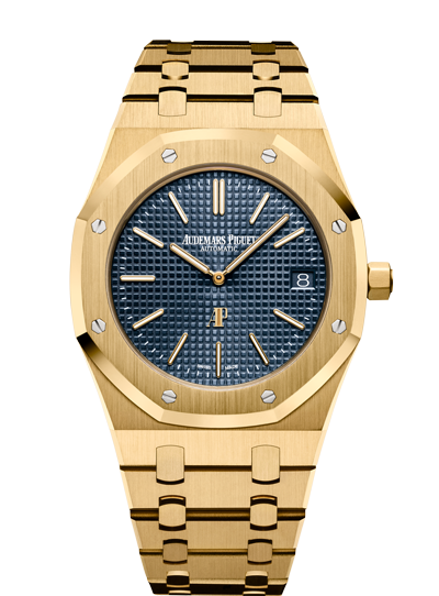 Audemars Piguet Royal Oak Extra-Thin Jumbo reference 15202 in Yellow Gold