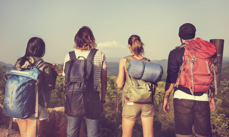 Backpackers - four friends
