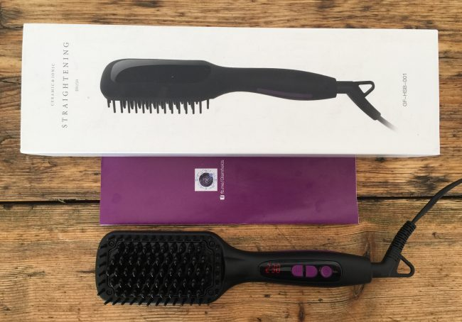 GLAMFIELDS hair brush straightener package