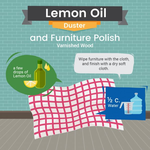 Natural Varnished Wood Furniture Polish Recipe - Green and Natural Cleaning