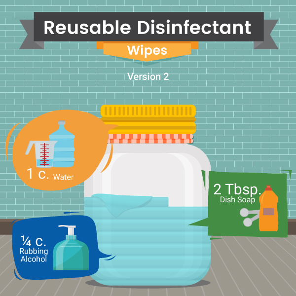 Reusable disinfectant wipes Recipe 2 - Home - Green and Natural Cleaning