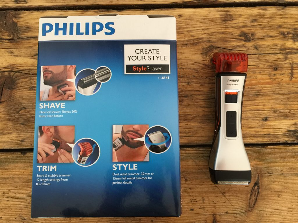 Philips Style Shaver QS6141_33 Dual Ended Shaver and Beard Trimmer box