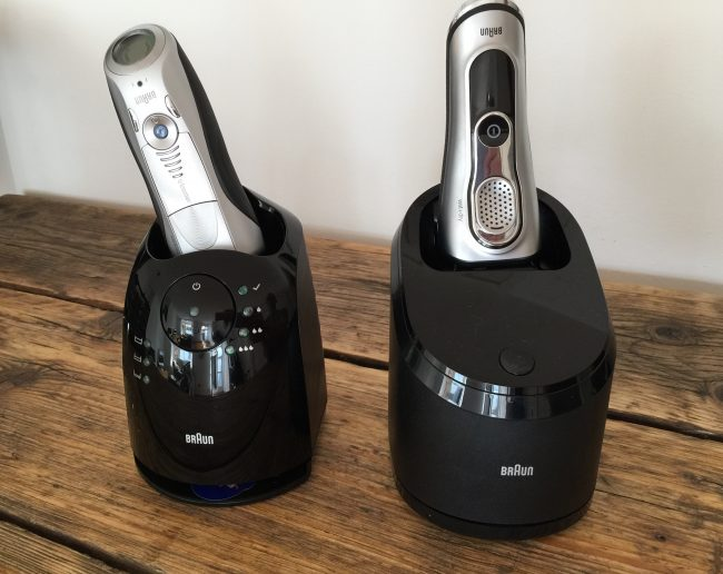 braun series 7 vs braun series 9 - clean and charge stations
