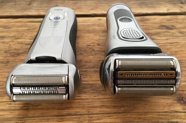 braun series 7 vs braun series 9 - shaver head comparison