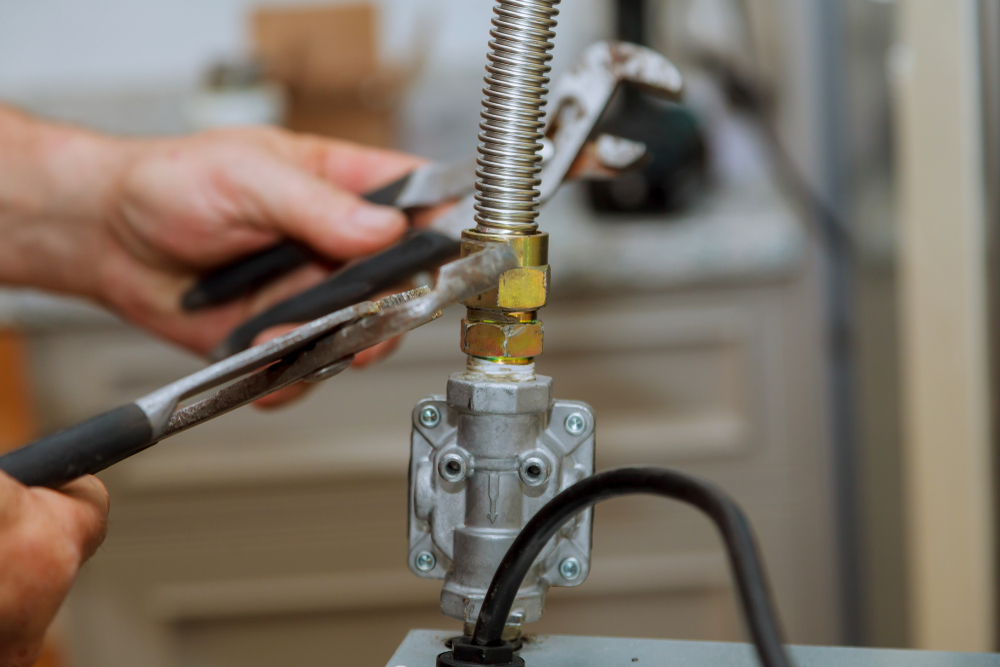 replacing a gas line connector