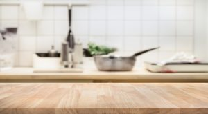 wooden kitchen countertop