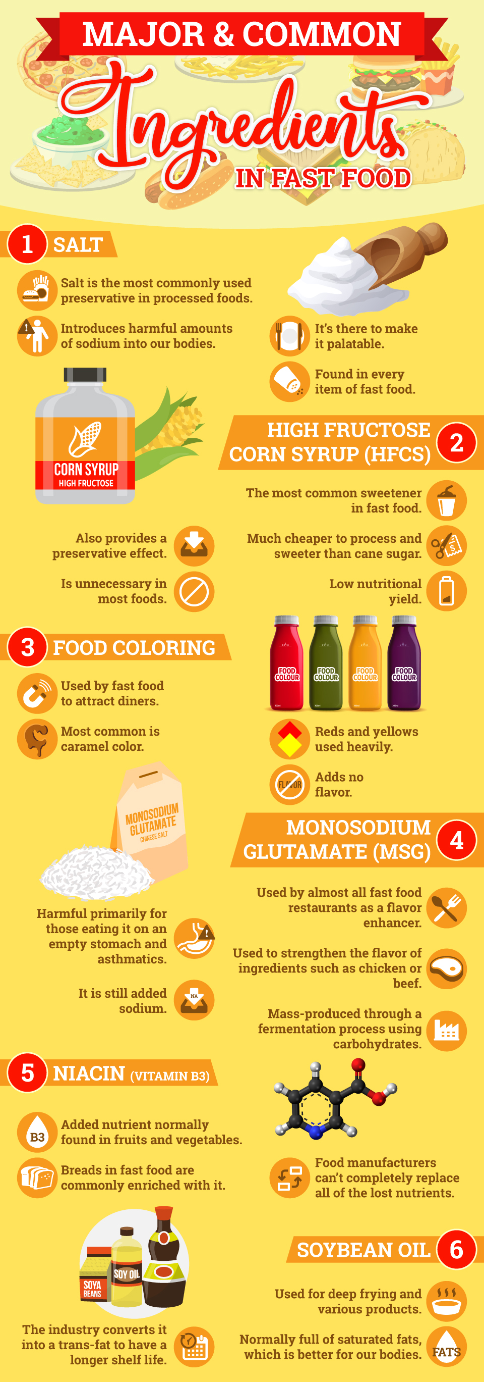 Major and Common Ingredients in Fast Food