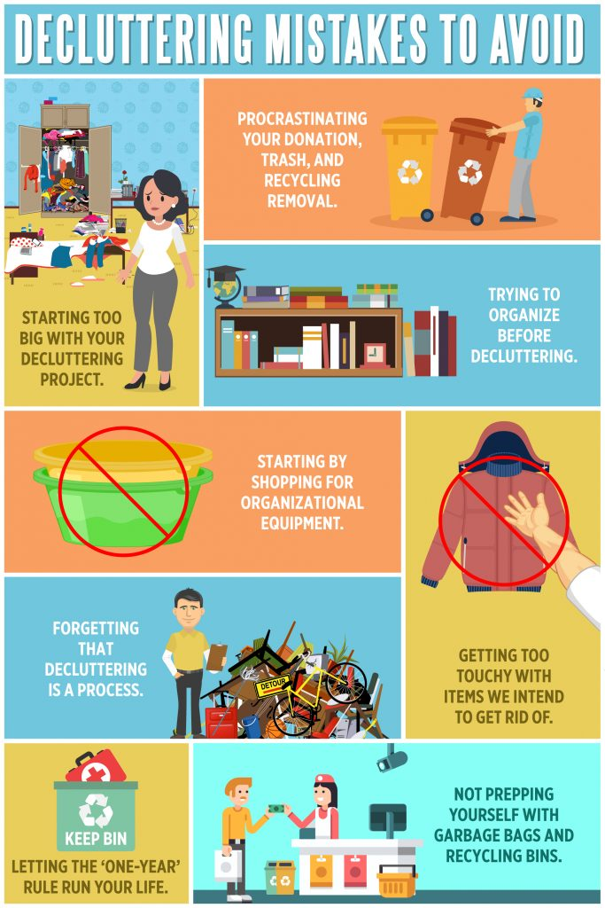 Decluttering Mistakes to Avoid Infographic