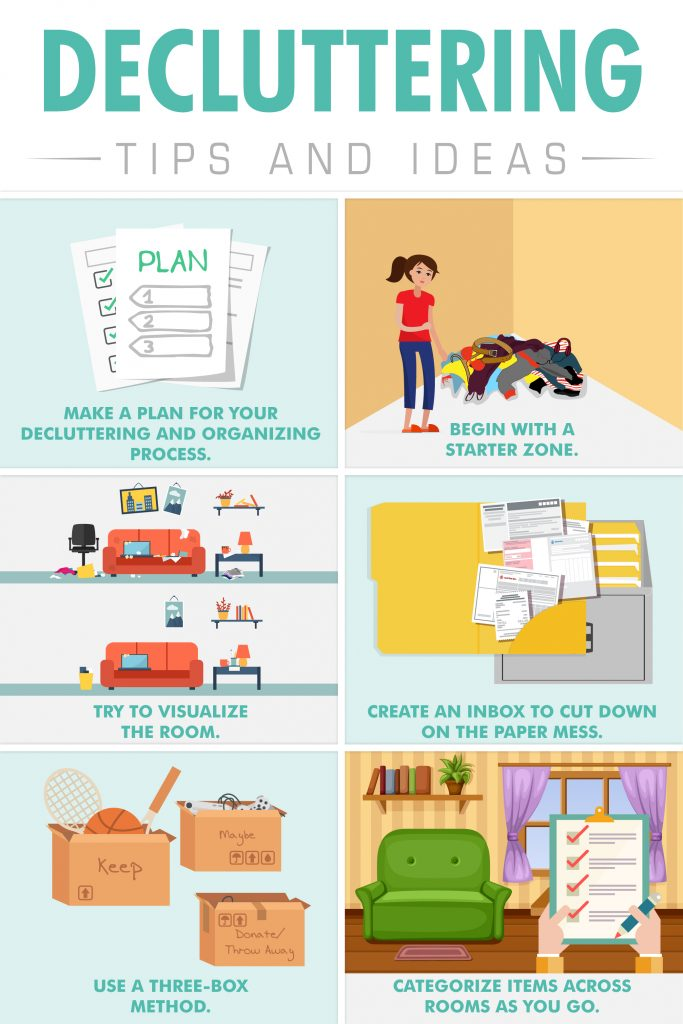 Decluttering Tips and Ideas Infographic