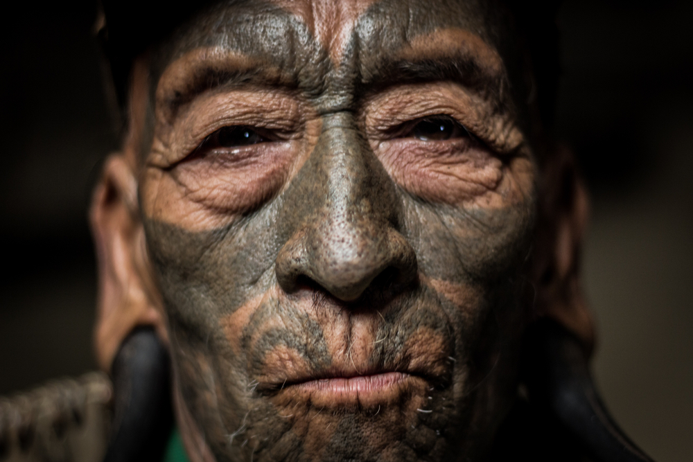 naga tribe facial tattoo