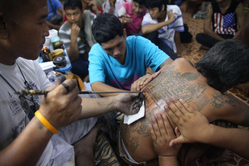 traditional tattoo ceremony