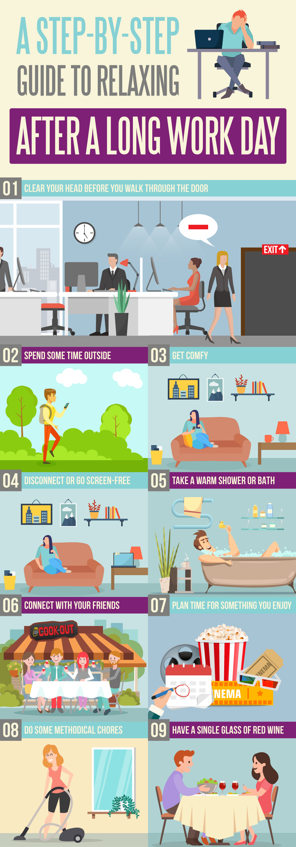 A Step-By-Step Guide to Relaxing After a Long Work Day