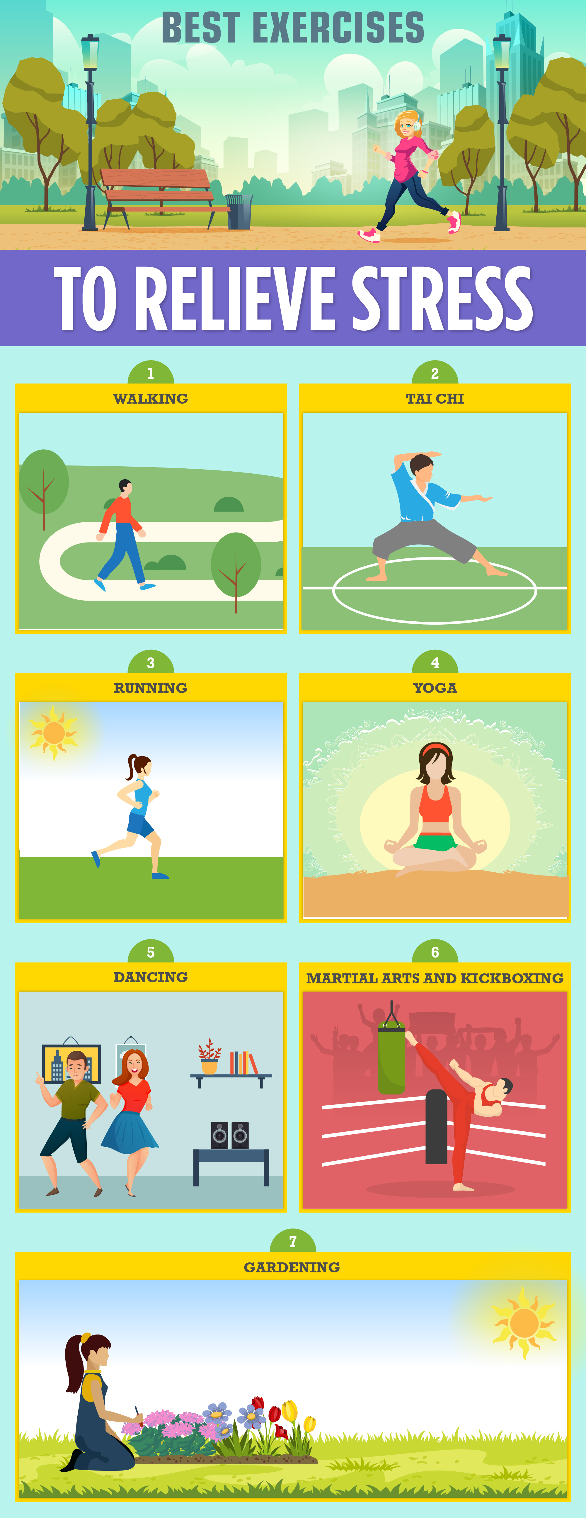 Best Exercises to Relieve Stress